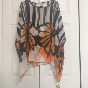 Black, White and Orange Top